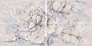 Панно 63*1260  Delicato Bouquet Perla 4 Pz