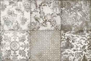 Декор 20*20 Maiolica Ornamenta Grigio (уп. 1,36 м2/ 34 шт)