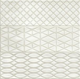Декор 10*30 Brick Glossy Dec. Mix 3 Grey