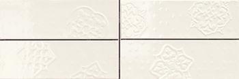 Настенная плитка 10*30 Brick Glossy Dec. Mix 4 Beige (уп. 1,08 м2/ 36 шт)