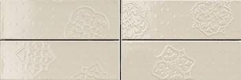 Настенная плитка 10*30 Brick Glossy Dec. Mix 4 Grey (уп. 1,08 м2/ 36 шт)