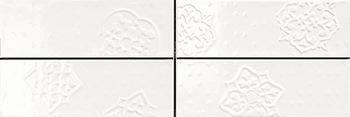 Настенная плитка 10*30 Brick Glossy Dec. Mix 4 White (уп. 1,08 м2/ 36 шт)
