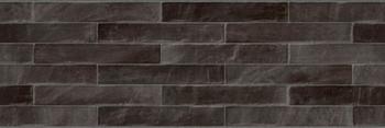 Настенная плитка 25*75 Rev. Brick XL Negro (уп. 1,45 м2/ 8 шт)