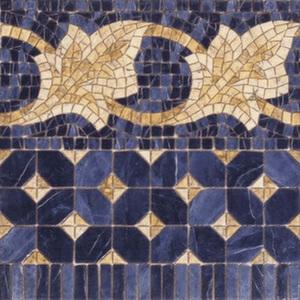 Бордюр 43,5*43,5 Cenefa Midas Azul