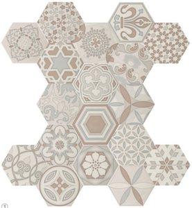 Декор 17,5*17,5 Dec. Vodevil Ivory (уп. 1 м2/ 37 шт)