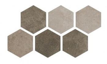 Керемогранит 25*22 Hexagon Multi Cold (уп. 1,04 м2/ 25 шт)