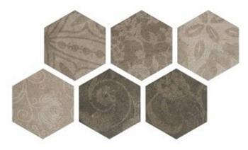Керемогранит 25*22 Hexagon Patchword Cold (уп. 1,04 м2/ 25 шт)