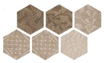 Керемогранит 25*22 Hexagon Patchword Warm (уп. 1,04 м2/ 25 шт)