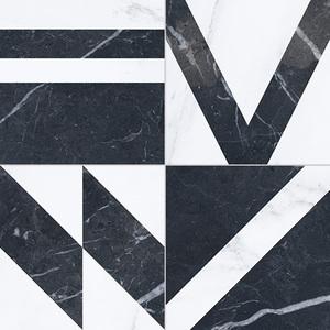Напольная плитка 33,15*33,15 Pav. Velvet Geo Negro (уп.1,32 м2/ 12 шт)