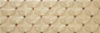 Настенная плитка 25*75 Stucco-15 Dec-2 Cream (уп. 1,312 м2/ 7 шт)