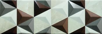 Настенная плитка 20*60 Valentina Brown Geometric (уп. 1,32 м2/ 11 шт)