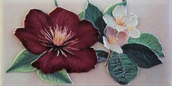 Бордюр 10*20 Violetta Cenefa-1 Burdeos