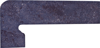 Плинтус левый 39,5*17,5 Zan. Metalica Basalt Izquierda